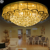 Continental Luxury S Golden Circular LED Modern Living Room Bedroom Stylish Atmosphere Restaurant Ceiling Lights Rmy