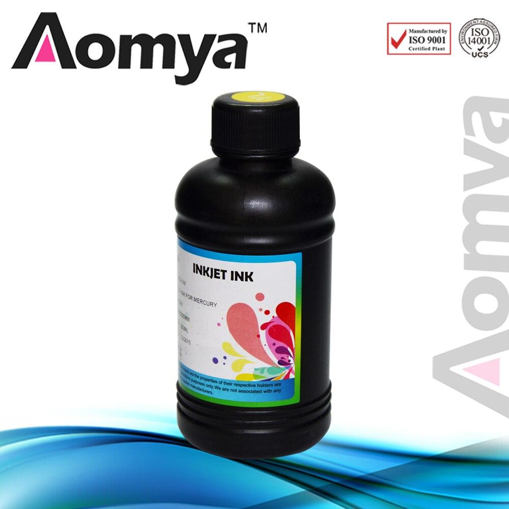 [250 ml blanco] aomya 3D impresora plana UV LED de tinta en plástico cerámica pu ABS vidrio phonecase compatible para Epson DX5 DX6 DX7