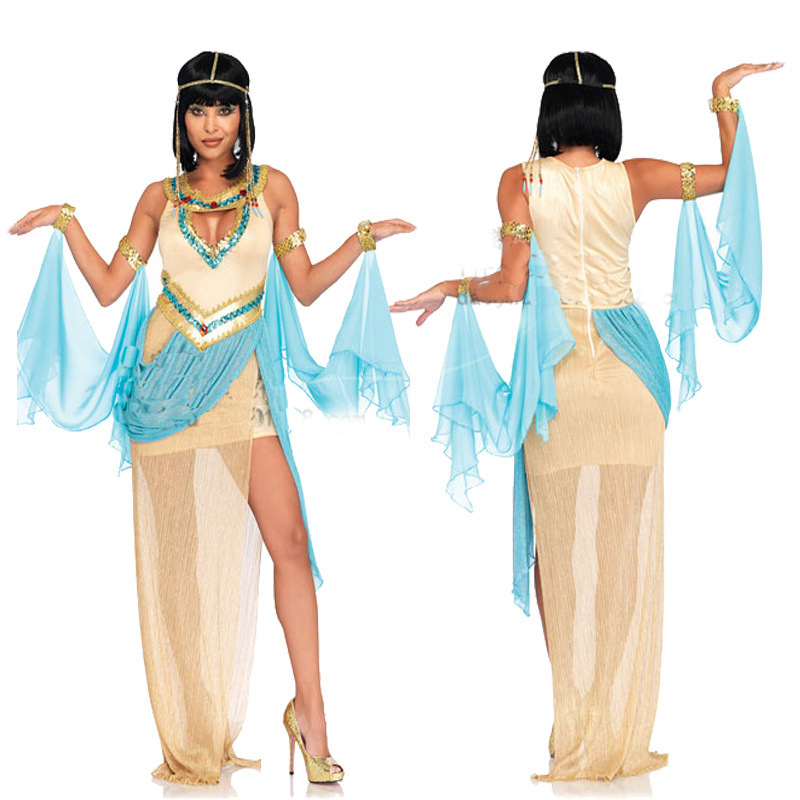 2019New quality Halloween costume adult female sexy Greek goddess Cleopatra cosplay Ares costume dress
