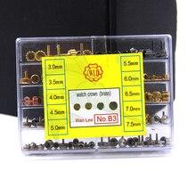 Hohe Qualität BD B3 Messing Uhr Kronen Kit, Sortieren Größe Multi Farben Uhr Crown Austauschs Teile für Uhrmacher