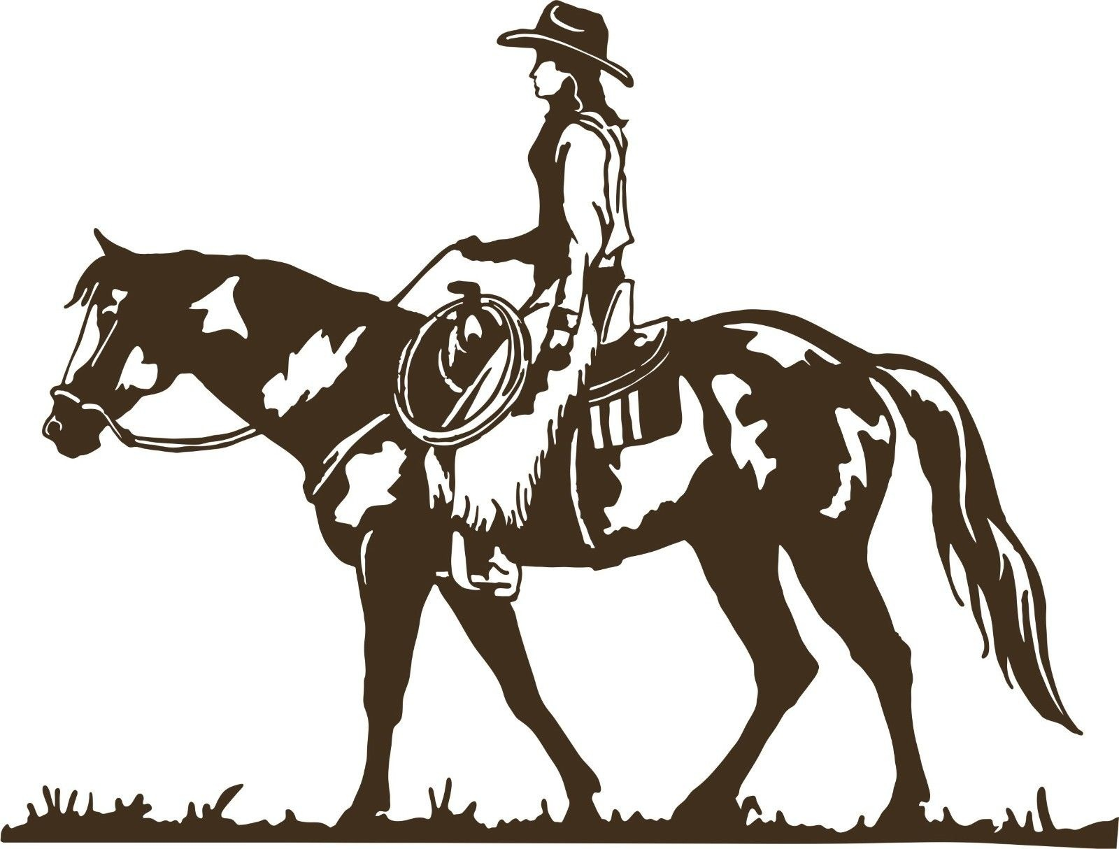 Bull Head Cowboy Hats Vinyl Decal Sticker Diesel  Cowgirl Country Rodeo Western