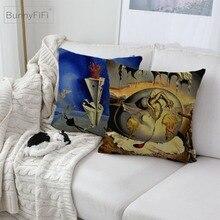 Salvador Dali Dream Surreal Artwork Decorative Cotton Linen Cushion Cover 45x45cm For Sofa Chair Pillow Case Home Decor Almofada