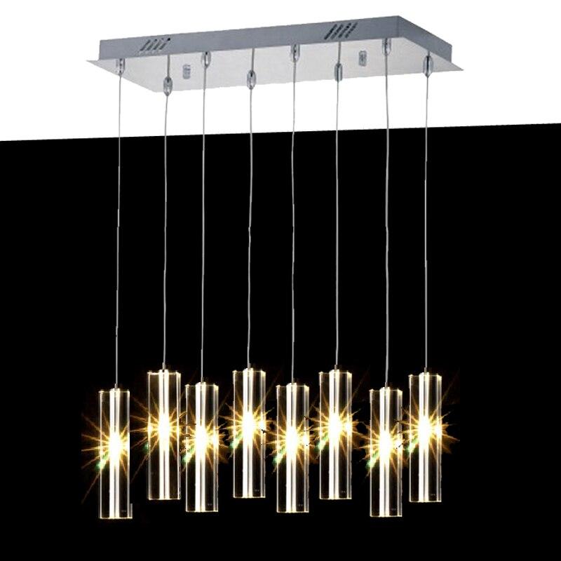 цена на Modern Chrome crystal light lamp Luxury Crystal Pendant lamp lustres de cristal indoor Lights Kitchen Flush Mounted  ceiling