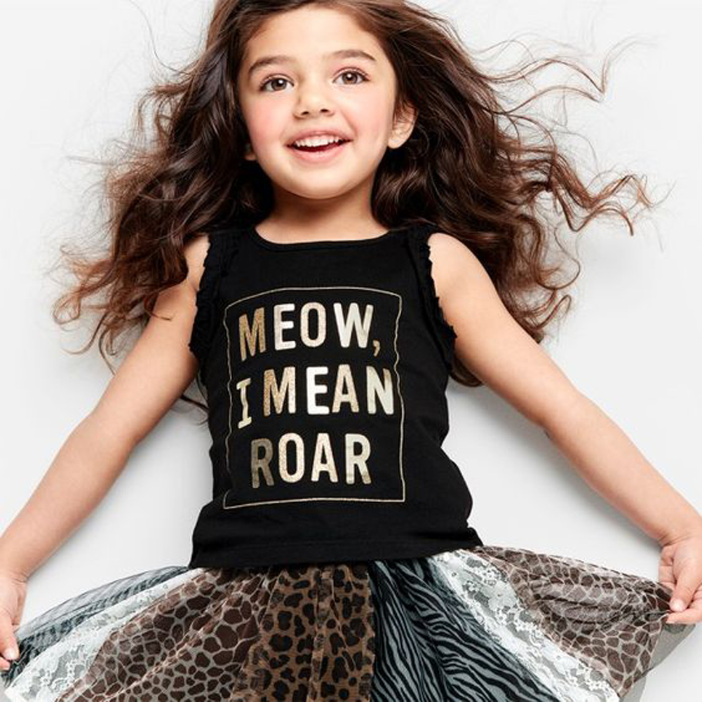 18b9761ab03 Lovely Children Baby Girls Clothes Sets Letter Printed Sleeveless Tops Vest  + Leopard Print Skirts 2PCS Kids Outfits Sets