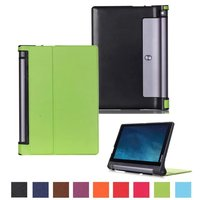 Ultra Slim Custer Folio Stand PU Leather Skin Magnetic Smart Sleep Cover Case For Lenovo YOGA