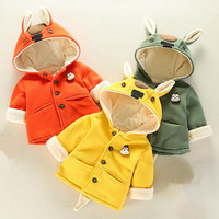 Baby Coat Boy Girl Baby Outerwear Cotton Hooded Infant Jackets Full Sleeve Newborn Baby Jackets