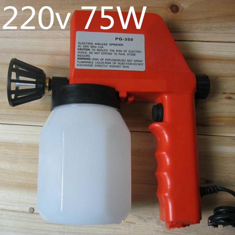 75w 220V Electrical Paint spray gun 0.8mm nozzle Air-brush Pistola de pintura Liquidificador Spray Gun Paint For Car Airbrush pintura de laca rusa