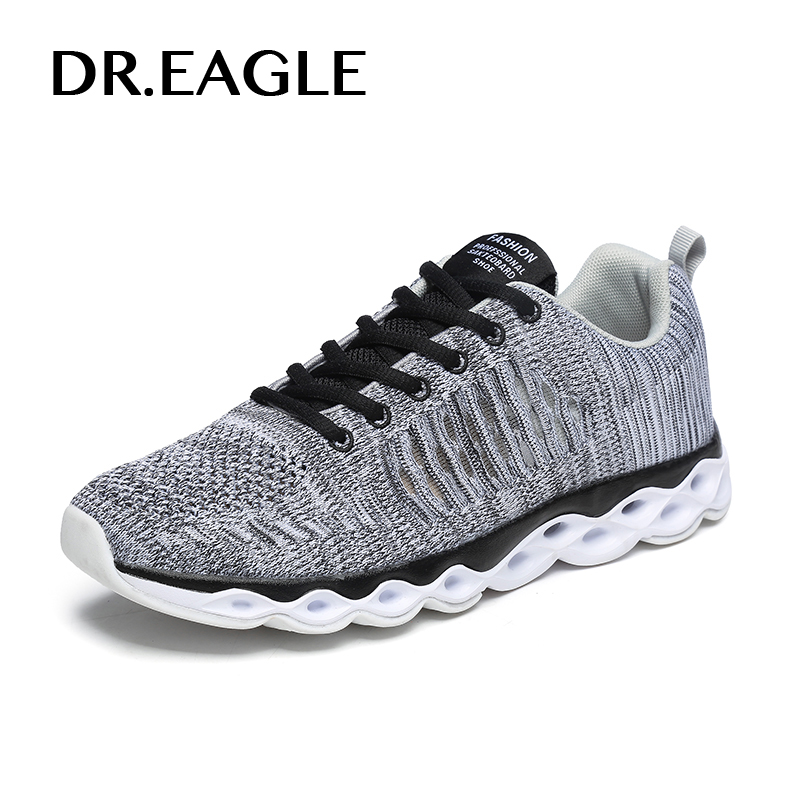 DR.EAGLE Outdoor men sneakers male sport shoes breathable mesh jogging mens trainers krasovki running shoes for men 2017brand sport mesh men running shoes athletic sneakers air breath increased within zapatillas deportivas trainers couple shoes