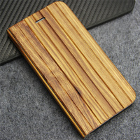 Unique Cases For IPhone 6 6S Plus 5 5 Inch Facade Wood Inner Leather With Plastic