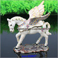 Angel Horse Trinket Box Horse Crafts Decorated with Crystals Walking Horse Jewelled Trinket Box Jewelry Box