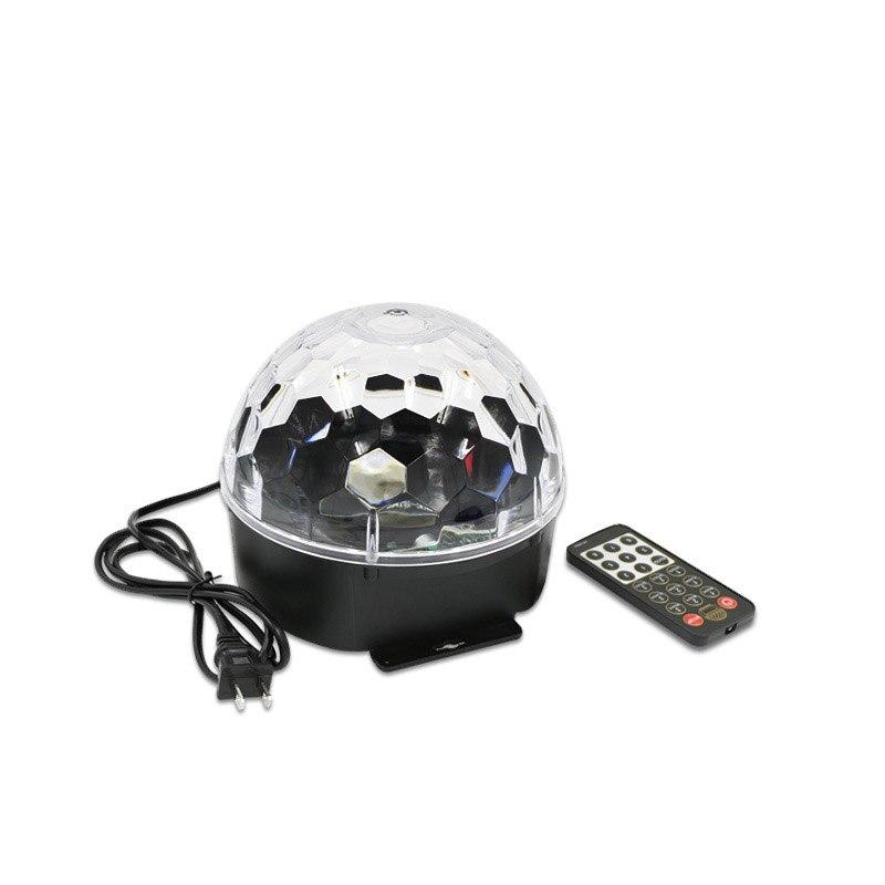 Голосовой активации Мини RGB светодиодный этап лампы с пультом ДУ Magic Ball проектор Disco вечерние DJ этап световой эффект