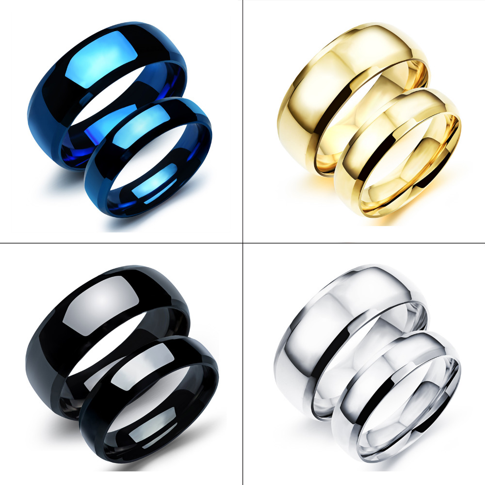 Special Offer Size 511 Couple Ring Titanium Steel Woman Man Fashion  Jewelry Low Price