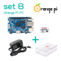 Orange Pi PC SET8 :  Orange Pi PC+ Transparent  ABS Case+ Power Supply+ 8GB Class 10Micro SD Card Beyond Raspberry Pi