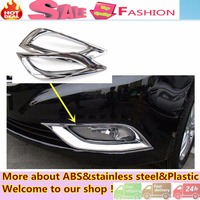High Quality Car Styling Cover Detector ABS Chrome Lamp Front Fog Light Trim Frame Accessories For