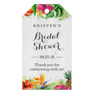 2x35inch tropical hibiscus floral bridal shower thank you gift tags in cards invitations from home garden on aliexpresscom alibaba group
