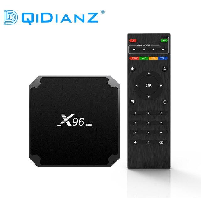 (MRW o CorreosExpress:Entrega rapida) DQiDianZ X96mini Android 7.1 X96 mini Smart TV BOX S905W Quad Core compatible con 2.4G inalámbrico WIFI TV caja