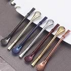 Creative 1pcs Stainless Steel Tea Spoon Filter Yerba Mate Tea Drinking Straws Metal Tea Tool Bar Accessories