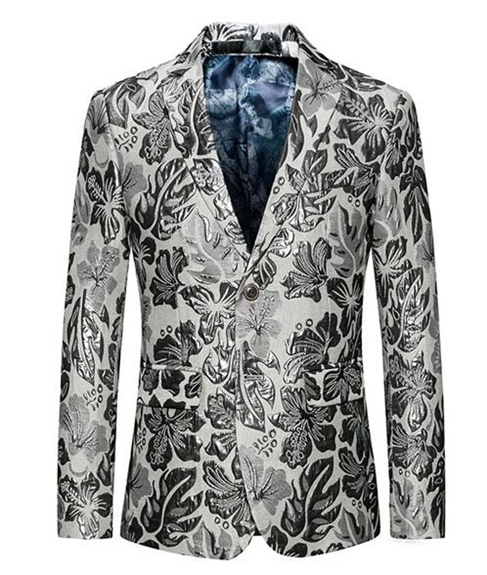 Europe and the United States the new boutique han edition men winter wedding host big yards white suit jacket 263 / M-6XL