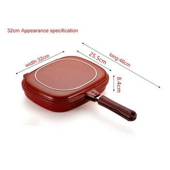 Ustensiles de cuisine en acier inoxydable Po le frire Double Face po le Steak Double Face