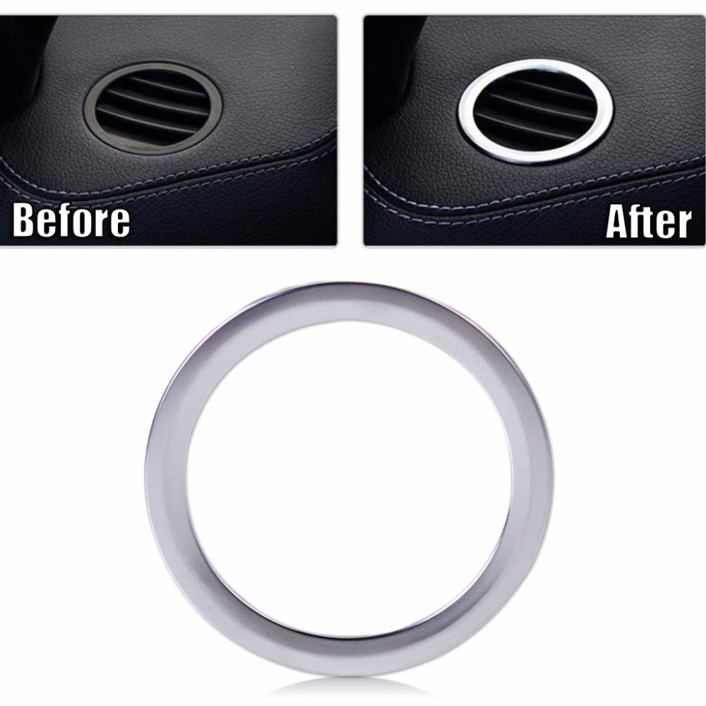 For <font><b>Mercedes</b></font> Benz GLK X204 ML <font><b>W124</b></font> GL X164 ABS <font><b>Chrome</b></font> Interior AC Air Vent Outlet Cover Trim Decoration Accessories Car Styling image