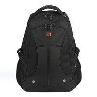 Swisswin Black Business Men Backpack Waterproof Men S Back Pack 15 6 Inch Laptop Bag Designer