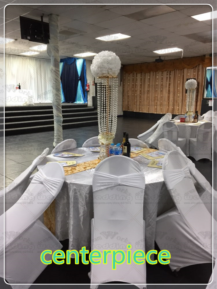 Crystal Party 6pcs 80cm Decoration Candlestick Tall Road Lead Wedding Decoration Centerpiece Event Wedding Party Event Acrylic