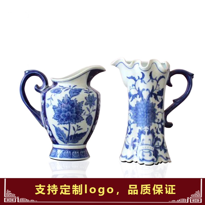 decorations Jingdezhen Ceramics New Chinese Blue and White Patterned Arrangement Belt to Decorate Porcelain Vases and Flowers