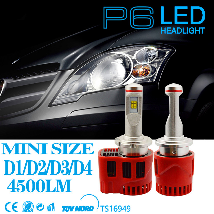 LED Lamp 2x 90W D3 LED Canbus Headlight Kit All in One White Light Free Shipping 6000k P6 LMZ Bulbs Car LED Headlamp 2016 h3 car led light auto modificated headlamp led headlight bulbs all in one conversion kit 80w 7200lm 6000k white