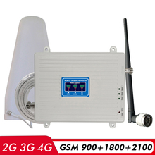 2G 3G 4G Tri Band Repeater GSM 900+DCS/LTE 1800+UMTS/WCDMA 2100 Cell Phone Signal Booster GSM LTE 2600 Cellular Signal Amplifier repeater 2 3 4g amplifier cell phone signal booster gd 900 4g lte dcs 1800 mhz umts dual band lte 70db cellular signal amplifier