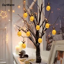 hot deal buy ourwarm vintage pineapple string lights yellow led fairy string lights decoration hawaii birthday glow party supplies 10pcs led