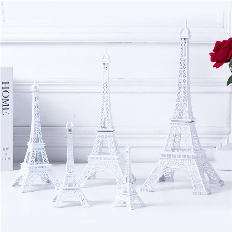 Decoración de la torre Eiffel blanca, cinco tamaños Pure Color - Decoración del hogar