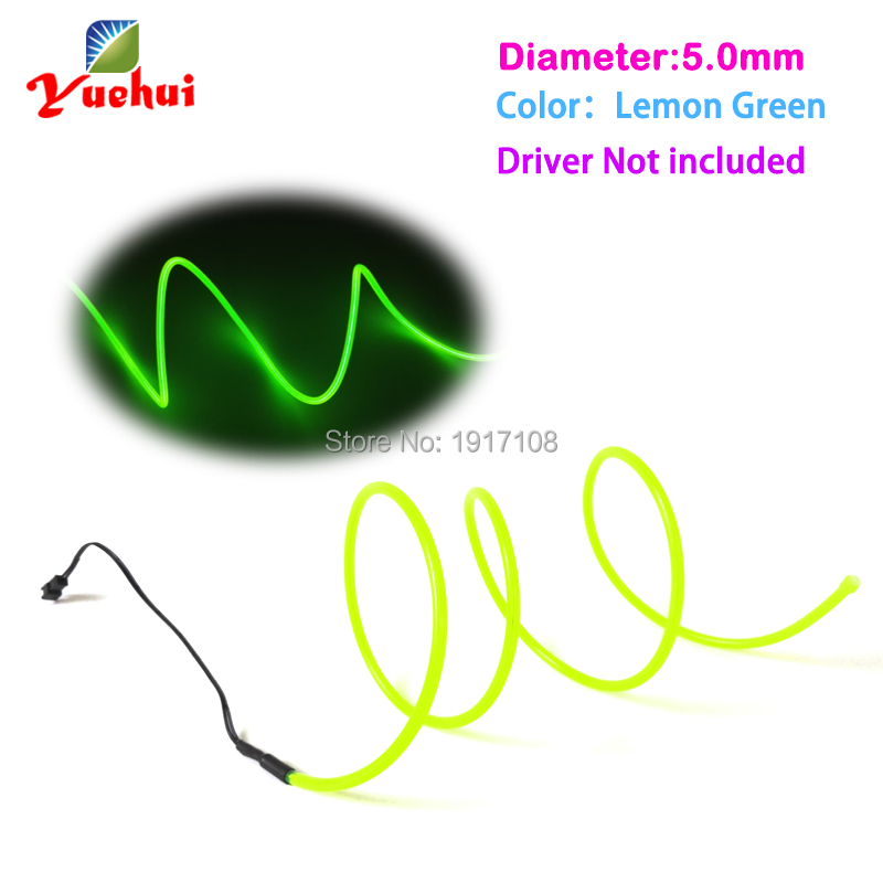 New design 5.0mm 1Meter 10 Color Choice Flexible EL wire Neon glow light Not Include for night wedding decoration