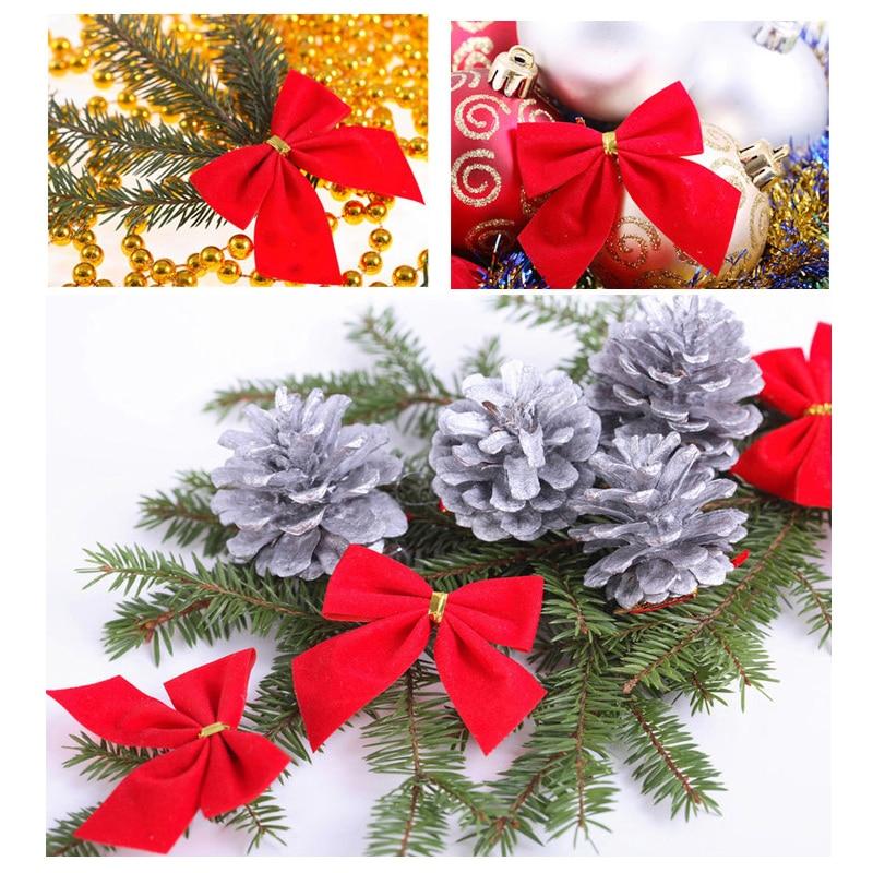 Bows Christmas Tree Decorations Xmas Bowknot Party Garden Festival Ornaments Du
