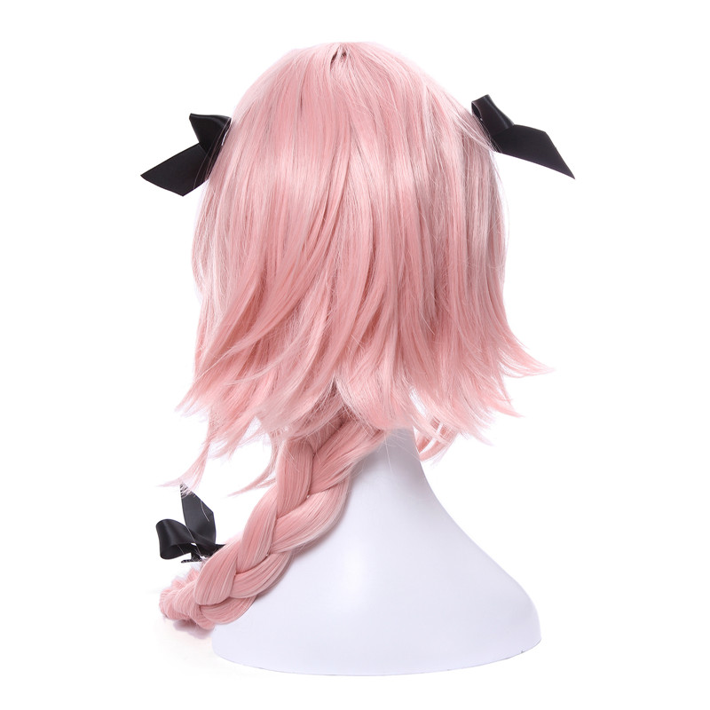 Image 3 - L email wig New Arrival Game Fate Apocryph Astolfo Cosplay Wigs Long Pink Heat Resistant Synthetic Hair Halloween Cosplay Wig-in Synthetic None-Lace  Wigs from Hair Extensions & Wigs