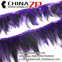 Wholesale in CHINAZP Factory 10yards/lot Directly Dyed Dark Purple Rooster Neck Hackle Feather Trim Fringe