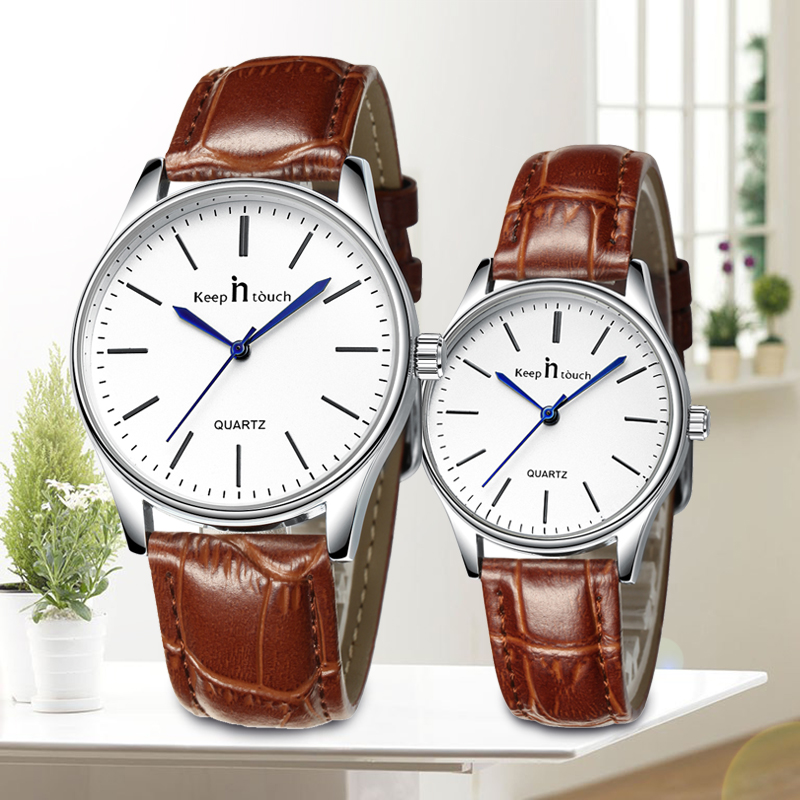 Fashion Watch Male Leather Strap Waterproof Quartz Female Watches Lovers Couple Wristwatches Men Women Watch Relogio Masculino