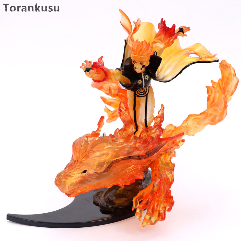 Naruto Action Figure 200mm PVC Toy Anime Nartuo Shippuden Uzumaki Naruto Kurama Collection Figurine Toy