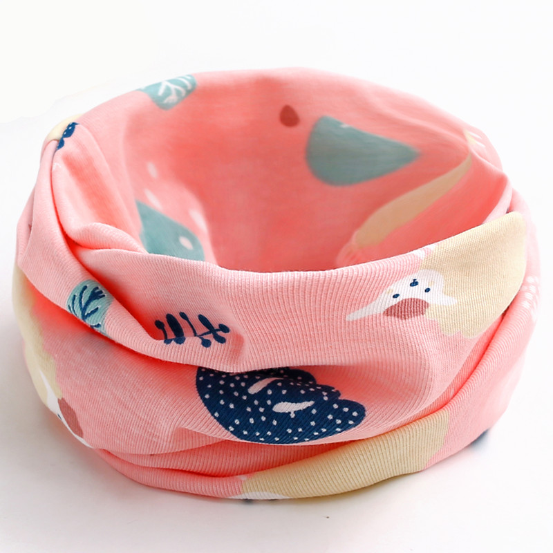 Новинка; сезон осень-зима; шарф из хлопка для девочек; Детский шарф; нагрудный шарф для мальчиков и девочек с круглым кольцом; милый детский шарф с воротником; Bufandas - Цвет: pink sheep