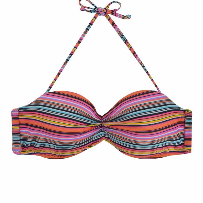 M&M Gratë Push Up Bandeaus Biniki Top Solid Bikini Halid i Rrënuar - Veshje sportive dhe aksesorë sportive - Foto 5