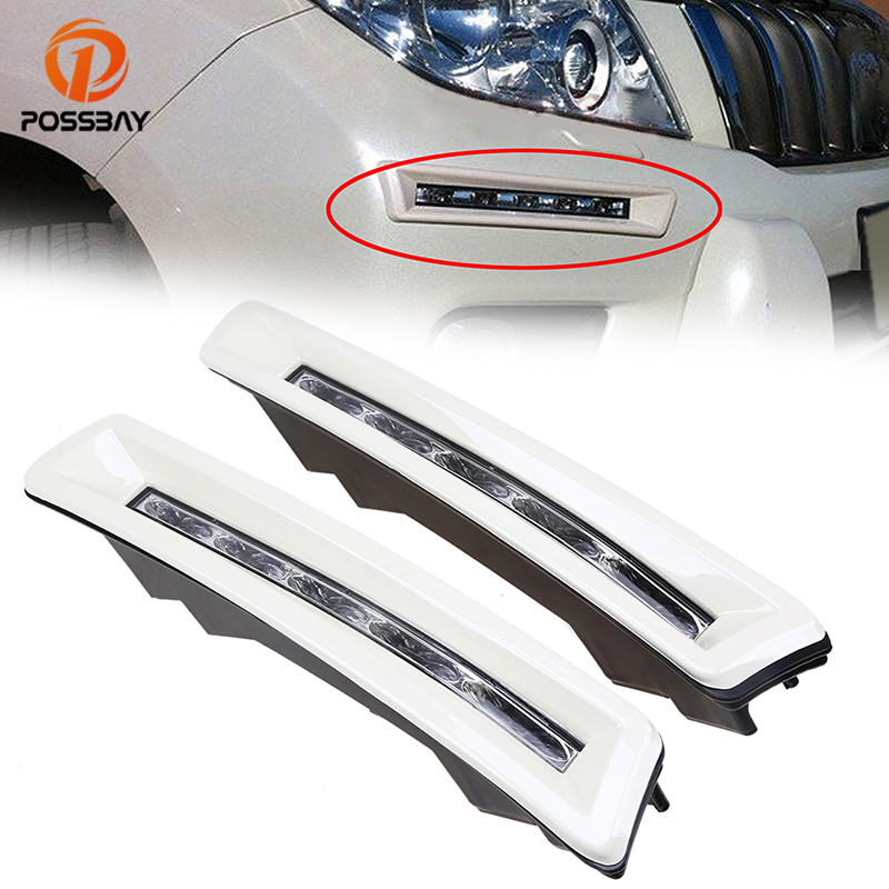 2010 2014 Land Rover Discovery Lr4 Performance Led Drl: POSSBAY DRL Daylight For Toyota Land Cruiser Prado 2700