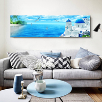 Hand painted Seaside castle DIY Canvas Painting Wall Pictures For Room Home Decorations Poster Art Prints Oil Paintings