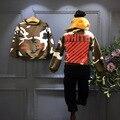 2016 Coreano um menino com suéter de cashmere jaqueta de camuflagem de manga comprida T-shirt frete grátis