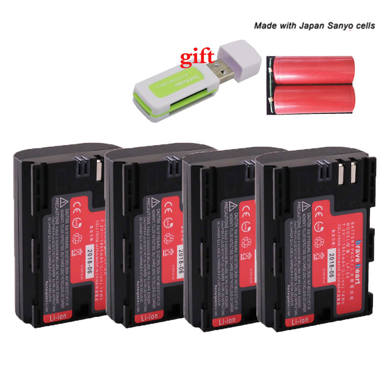 Bateria LP-E6N LPE6N LP-E6 LPE6 LP E6 E6N Digital Camera Battery Pack By Sanyo Cells For Canon 5D Mark II III 7D 60D EOS 6D