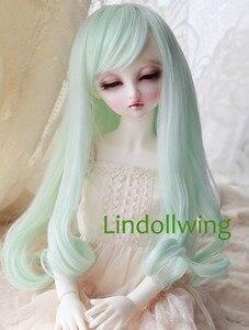 1/3 BJD парик Pullip Dal DD Dollfie кукла парик 8-9 дюймов длинный парик 5808 мятный цвет