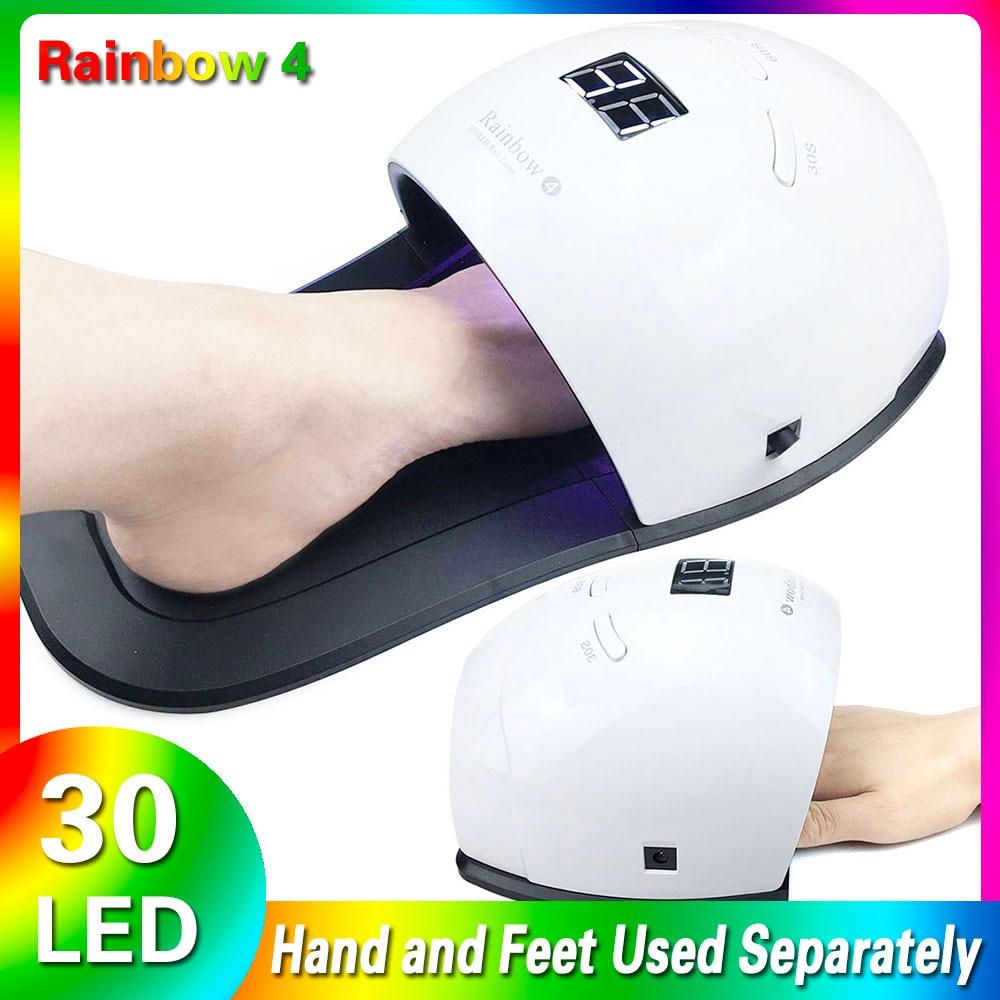 2019 novo 48 w conduziu a lampada uv do prego rainbow4 secador de unhas sensor automatico