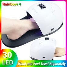 جديد 48 واط UV LED مصباح Rainbow4 ماكينة تجفيف الأظافر UV مصباح لعلاج الأشعة فوق البنفسجية هلام طلاء الأظافر مع استشعار الحركة شاشة الكريستال السائل