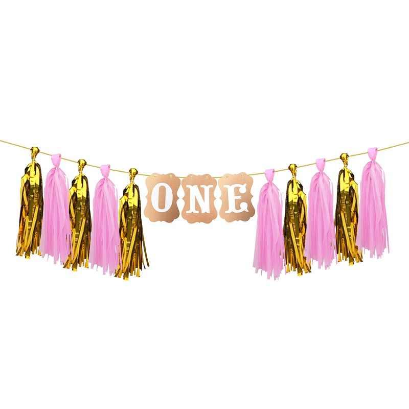 Новогодний баннер для стула I AM One, висячая тканевая гирлянда из кисточек для детей, 1-й день рождения, для украшения детского душа
