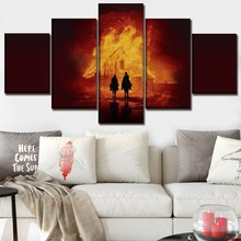 цена Canvas Wall Art Pictures Framework Living Room 5 Pieces The Sisters Brothers Movie Poster Home Decorative HD Printed Painting в интернет-магазинах