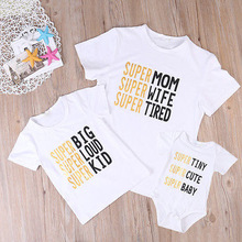 matching family outfits super mom wife womens boutique clothing mothers day tshirts letter casual mother and daughter tops 3-4t