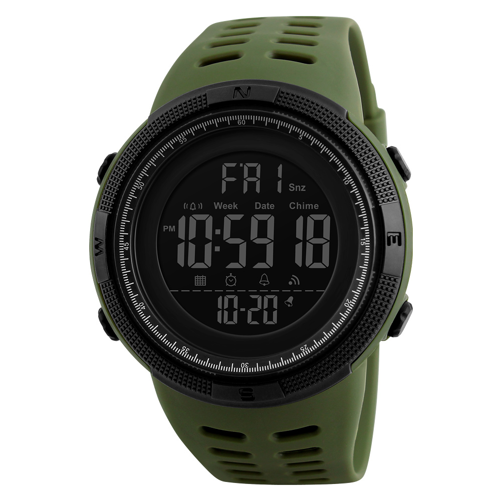 7 Colors Smart Outdoor Luminous Sports Waterproof Womens Watch Digital Wristwatch   Silicone Watch Back Light